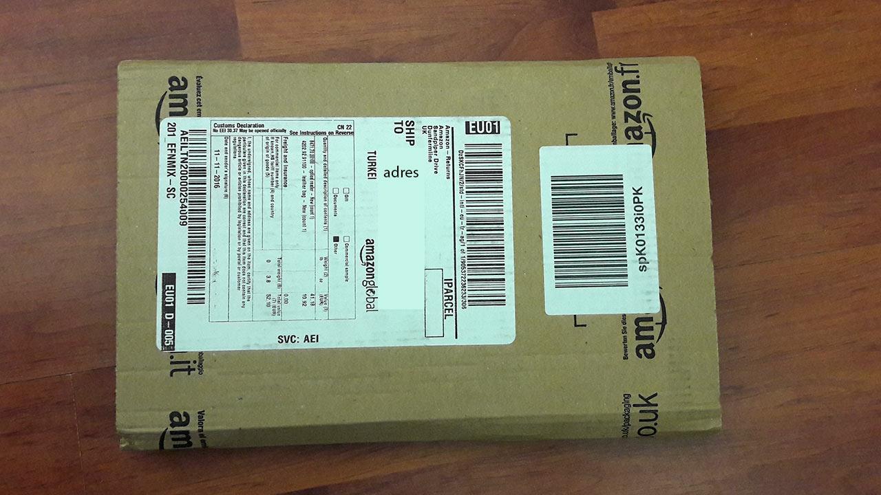 Amazon.de kargo kutu koli